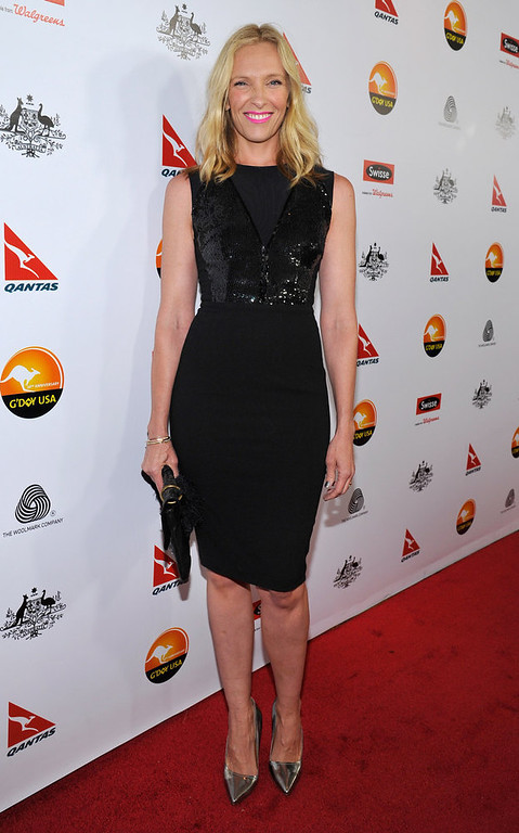 Description of . Actress Toni Collette arrives at the 2013 G\'Day USA Los Angeles Black Tie Gala at JW Marriott Los Angeles at L.A. LIVE on January 12, 2013 in Los Angeles, California.  (Photo by John Sciulli/Getty Images for G\'Day Australia)