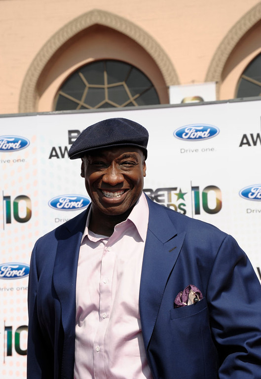 Description of . Michael Clarke Duncan arrives at the BET Awards on Sunday, June 27, 2010 in Los Angeles.