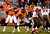 Denver Broncos quarterback Peyton Manning #18 takes the hike during the fourth quarter. The Denver Broncos vs The Tampa Bay Buccaneers at Sports Authority Field Sunday December 2, 2012. Joe Amon, The Denver Post