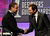 Presenter Russell Crowe and host Joel McHale onstage during the 15th Annual Costume Designers Guild Awards with presenting sponsor Lacoste at The Beverly Hilton Hotel on February 19, 2013 in Beverly Hills, California.  (Photo by Frazer Harrison/Getty Images for CDG)