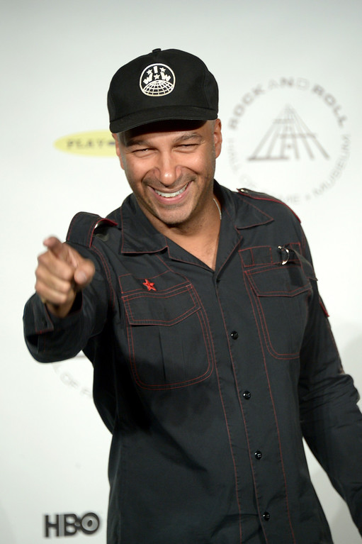 Description of . Musician Tom Morello attends the 29th Annual Rock And Roll Hall Of Fame Induction Ceremony at Barclays Center of Brooklyn on April 10, 2014 in New York City.  (Photo by Michael Loccisano/Getty Images)