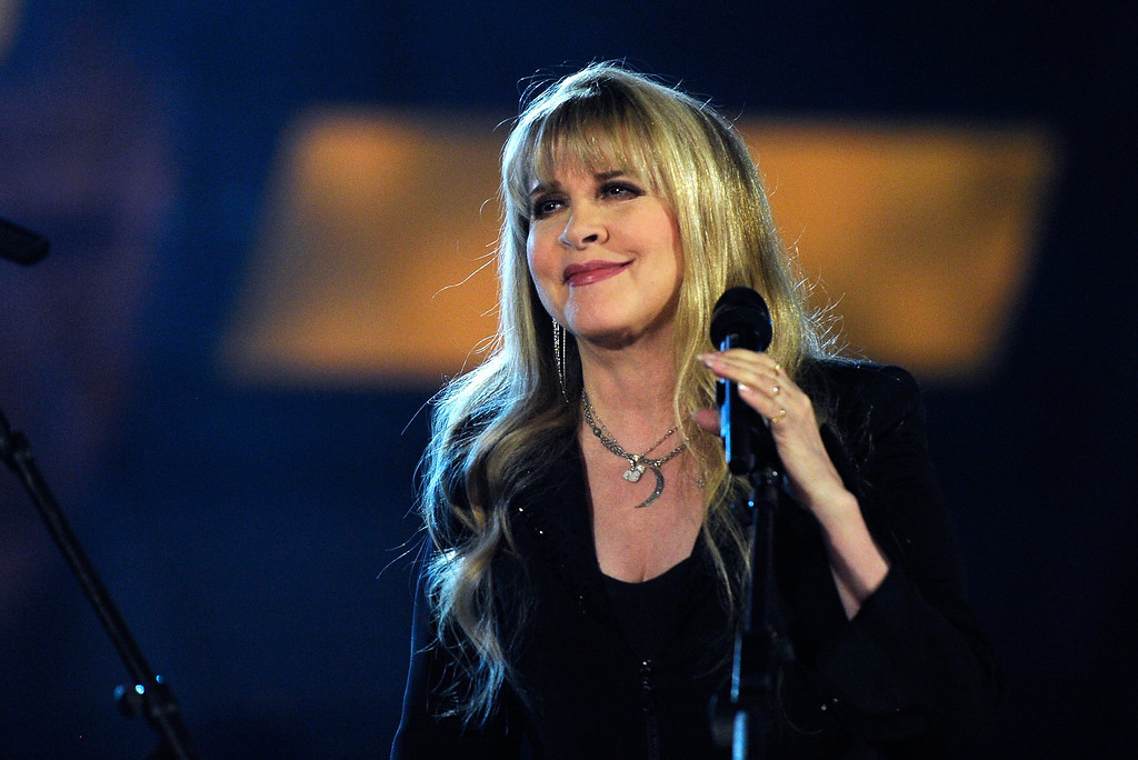 Description of . Singer/songwriter Stevie Nicks performs onstage during the 49th Annual Academy Of Country Music Awards at the MGM Grand Garden Arena on April 6, 2014 in Las Vegas, Nevada.  (Photo by Ethan Miller/Getty Images)