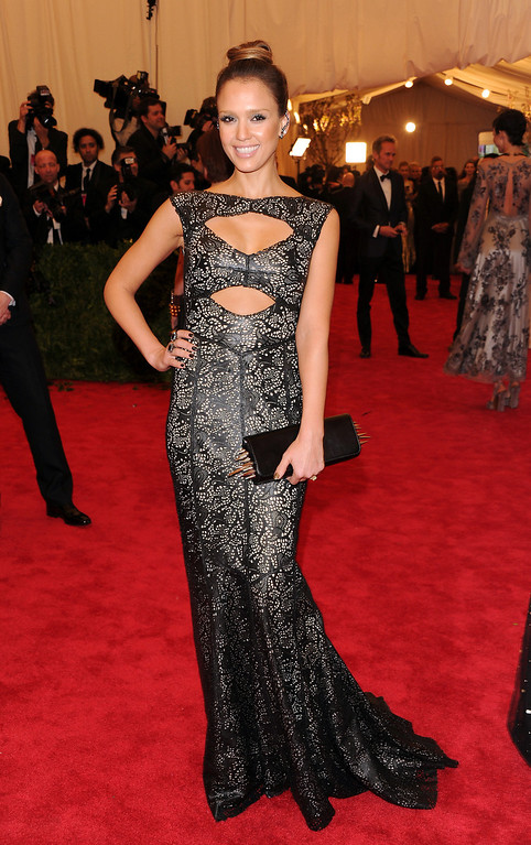 Description of . Jessica Alba attends The Metropolitan Museum of Art's Costume Institute benefit celebrating