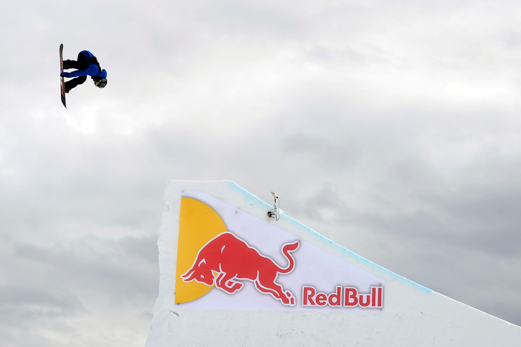 Description of . ASPEN, CO - JANUARY 26: Aleksander Oestreng hits a jumpduring the men's snowboard slopestyle final. X Games Aspen Buettermilk Mountain Aspen January 26, 2013 (Photo By AAron Ontiveroz / The Denver Post)