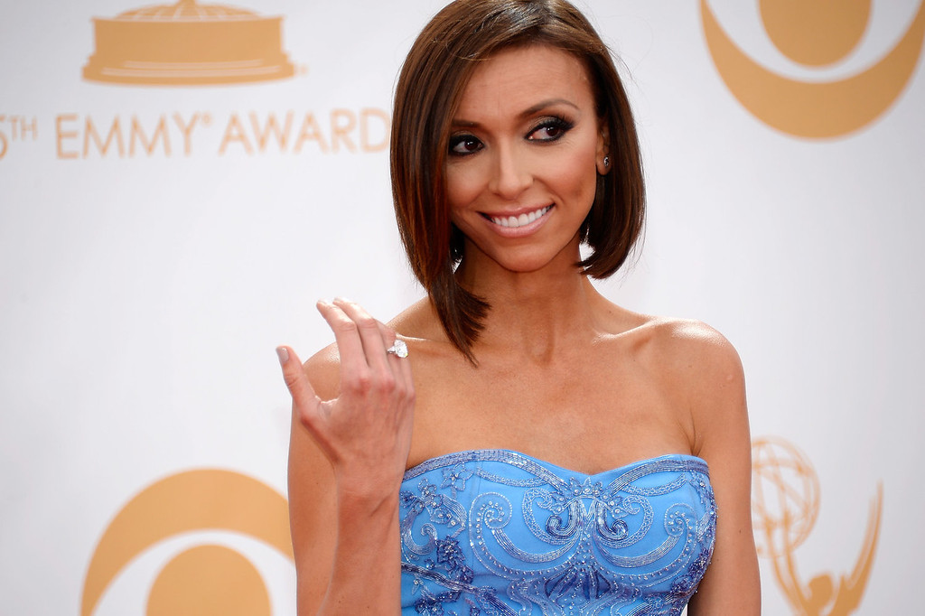 Description of . TV personality Giuliana Rancic arrives at the 65th Annual Primetime Emmy Awards held at Nokia Theatre L.A. Live on September 22, 2013 in Los Angeles, California.  (Photo by Kevork Djansezian/Getty Images)