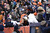 Denver Broncos wide receiver Eric Decker (87) jumps in the stands after scoring a touchdown as the Denver Broncos took on the Kansas City Chiefs at Sports Authority Field at Mile High in Denver, Colorado on December 30, 2012. Joe Amon, The Denver Post