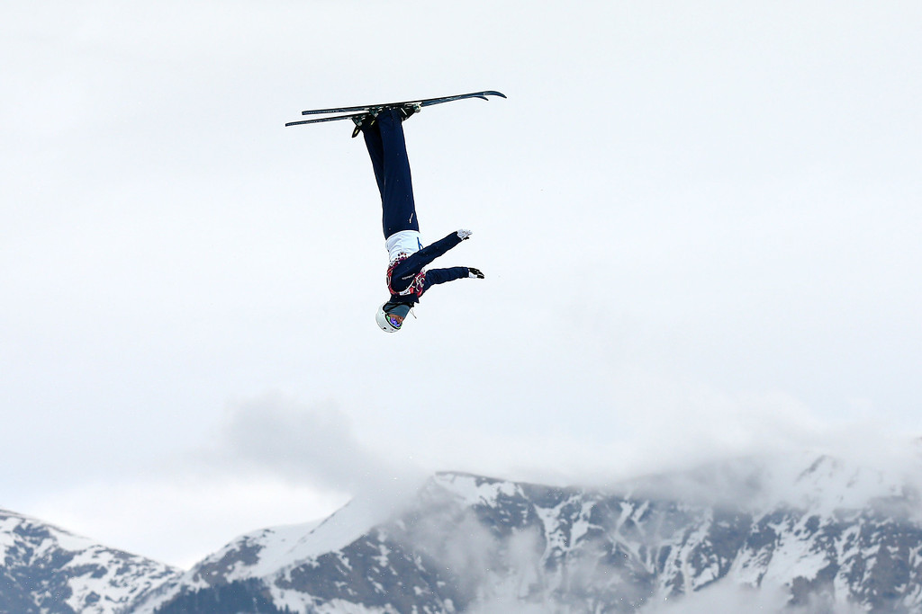 Description of . Mac Bohonnon of the United States competes in the Freestyle Skiing Men's Aerials Qualification on day ten of the 2014 Winter Olympics at Rosa Khutor Extreme Park on February 17, 2014 in Sochi, Russia.  (Photo by Cameron Spencer/Getty Images)