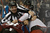DENVER, CO. - JANUARY 24: Linesmen Steve Miller (89) and Linesmen Pierre Racicot (65) break up Colorado Avalanche left wing Gabriel Landeskog (92) and Columbus Blue Jackets right wing Derek Dorsett (15) during a scuffle along the boards in the second period January 24, 2013 at Pepsi Center. The Colorado Avalanche take on the Columbus Blue Jackets NHL action. (Photo By John Leyba / The Denver Post)