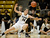 California Golden Bears guard Eliza Pierre (4) knocks the ball away  from Colorado Buffaloes guard/forward Meagan Malcolm-Peck (14) during the first half Sunday, January 6, 2013 at Coors Events Center. John Leyba, The Denver Post