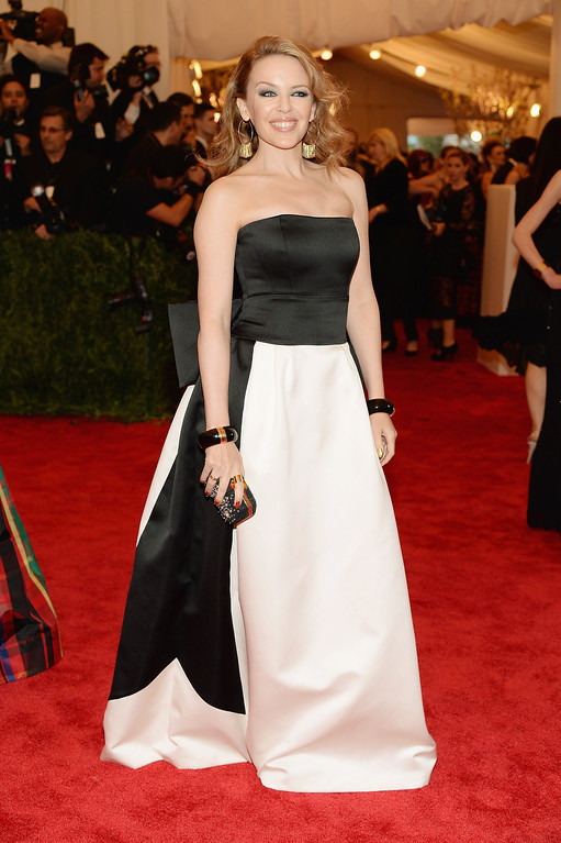 Description of . Kylie Minogue attends the Costume Institute Gala for the
