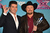 Producer Simon Cowell and season 2 winner Tate Stevens celebrate at Fox's