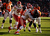 Denver Broncos running back Knowshon Moreno (27) drives into the end zone in the first quarter as the Denver Broncos took on the Kansas City Chiefs at Sports Authority Field at Mile High in Denver, Colorado on December 30, 2012. Tim Rasmussen, The Denver Post