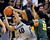 BOULDER, CO. - MARCH 7: Colorado center Josh Scott secured the ball after rejecting an attempt from Oregon's Tony Woods in the second half. The University of Colorado men's basketball team defeated Oregon 76-53 Thursday night, March 7, 2013 at the CU Events Center in Boulder. (Photo By Karl Gehring/The Denver Post)