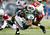 Bilal Powell #29 of the New York Jets is tackled by Kerry Rhodes #25 of the Arizona Cardinals on December 2, 2012 at MetLife Stadium in East Rutherford, New Jersey. The New York Jets defeated the Arizona Cardinals 7-6.(Photo by Elsa/Getty Images)