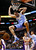 Denver Nuggets' Kosta Koufos (41) dunks against the Phoenix Suns during the first half of an NBA basketball game, Monday, March 11, 2013, in Phoenix. (AP Photo/Matt York)