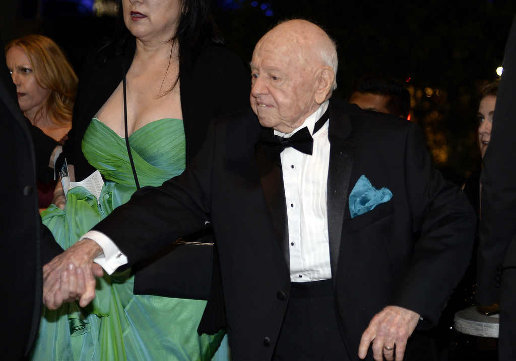 Description of . Actor Mickey Rooney attends the Governors Ball during the 65th Annual Primetime Emmy Awards at Nokia Theatre L.A. Live on September 22, 2013 in Los Angeles, California.  (Photo by Kevork Djansezian/Getty Images)