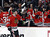 Chicago Blackhawks center Andrew Shaw celebrates his goal with teammates on the bench during the first period of an NHL hockey game against the Colorado Avalanche, Wednesday, March 6, 2013, in Chicago. (AP Photo/Charles Rex Arbogast)