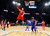 NBA All-Star Blake Griffin of the Los Angeles Clippers (32) attempts to dunk past All-Star Chris Bosh of the Miami Heat (1) during the 2013 NBA All-Star basketball game in Houston, Texas, February 17, 2013. REUTERS/Bob Donnan-POOL (UNITED STATES  - Tags: SPORT BASKETBALL)