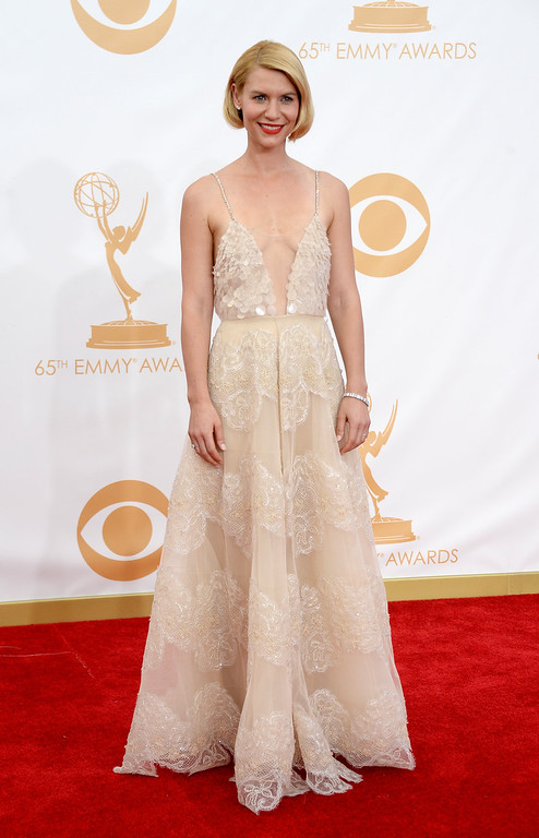 Description of . Actress Claire Danes arrives at the 65th Annual Primetime Emmy Awards held at Nokia Theatre L.A. Live on September 22, 2013 in Los Angeles, California.  (Photo by Frazer Harrison/Getty Images)