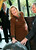 Crown Princess Maxima of Holland holds her hand on her stomach as she officially opens the new FMO Development Bank building September 12, 2003 in The Hague, Netherlands. Crown Prince Willem Alexander and Princess Maxima are expecting their first child in January. (Photo by Michel Porro/Getty Images)