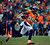 Denver Broncos wide receiver Demaryius Thomas (88) runs the ball during the first half.  The Denver Broncos vs Baltimore Ravens AFC Divisional playoff game at Sports Authority Field Saturday January 12, 2013. (Photo by John Leyba,/The Denver Post)