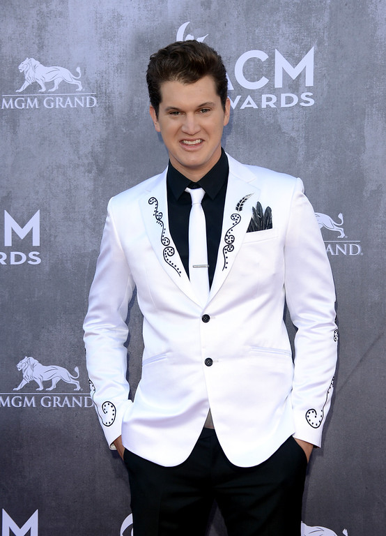 Description of . Singer Jon Pardi attends the 49th Annual Academy Of Country Music Awards at the MGM Grand Garden Arena on April 6, 2014 in Las Vegas, Nevada.  (Photo by Jason Merritt/Getty Images)