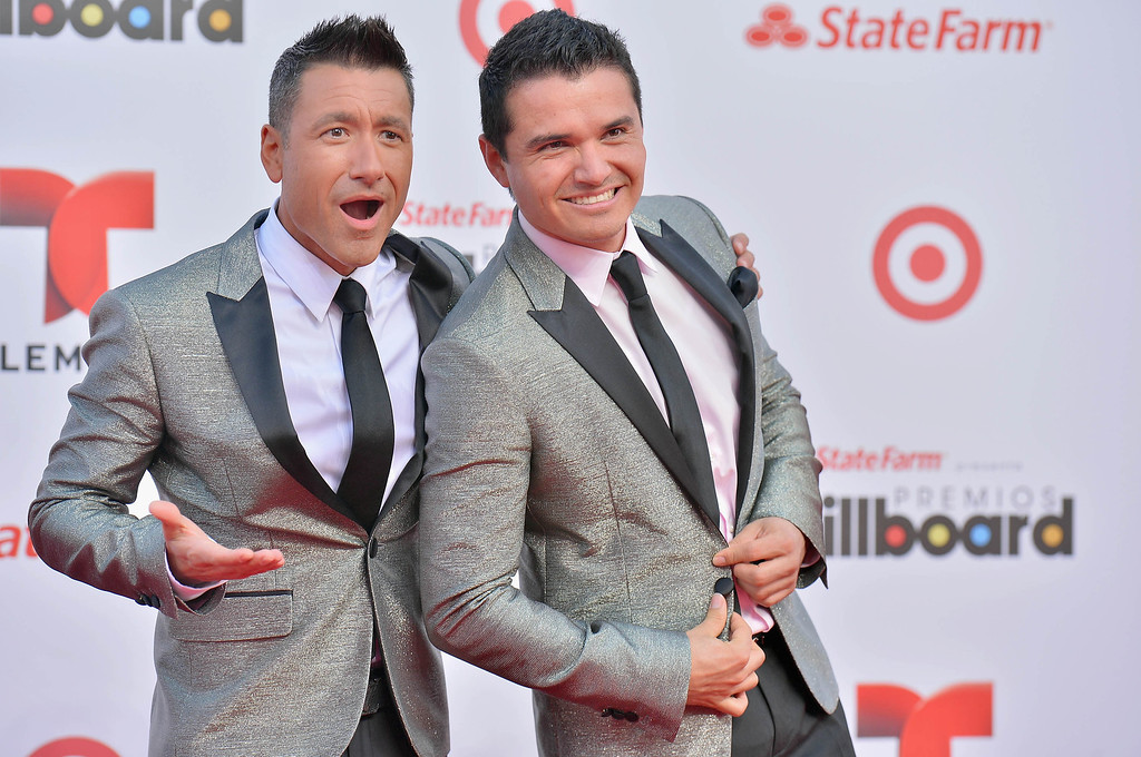 Description of . MIAMI, FL - APRIL 25:  Jorge Bernal and Horacio Palencia arrive at Billboard Latin Music Awards 2013 at Bank United Center on April 25, 2013 in Miami, Florida.  (Photo by Gustavo Caballero/Getty Images)