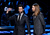 Musicians Adam Levine (L) and James Valentine of Maroon 5, winner of Favorite Band, speak onstage at the 39th Annual People's Choice Awards  at Nokia Theatre L.A. Live on January 9, 2013 in Los Angeles, California.  (Photo by Kevin Winter/Getty Images for PCA)