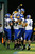 Running back De'Leon Eskridge #2 of the San Jose State Spartans is lifted into the air by teammates after scoring a fourth quarter touchdown against the Bowling Green Falcons of the Military Bowl at RFK Stadium on December 27, 2012 in Washington, DC.  (Photo by Rob Carr/Getty Images)