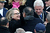 U.S. Secretary of State Hillary Clinton greets Secretary of Defense Leon Panetta during the presidential inauguration on the West Front of the U.S. Capitol January 21, 2013 in Washington, DC.   Barack Obama was re-elected for a second term as President of the United States.  (Photo by John Moore/Getty Images)