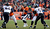 Denver Broncos quarterback Peyton Manning (18) looks for a receiver during the first quarter.  The Denver Broncos vs Baltimore Ravens AFC Divisional playoff game at Sports Authority Field Saturday January 12, 2013. (Photo by John Leyba,/The Denver Post)