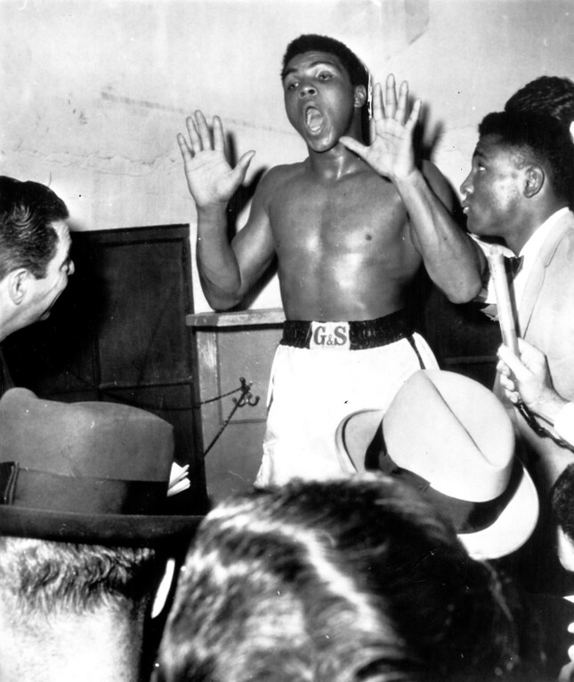Description of . MUHAMMAD ALI, 1963.  Denver Post Library photo archive