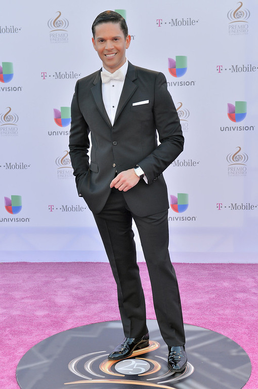 Description of . Rodner Figueroa arrives at the 25th Anniversary of Univision's