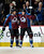 DENVER, CO. - JANUARY 24: Colorado Avalanche center Matt Duchene (9) celebrates his first period goal with teammate Colorado Avalanche defenseman Ryan Wilson (44) January 24, 2013 at Pepsi Center.  The Colorado Avalanche take on the Columbus Blue Jackets 
