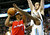 Los Angeles Clippers' Chauncey Billups (L) tries to get past Denver Nuggets' Ty Lawson (R) and Kosta Koufos (top) in their NBA basketball game in Denver March 7, 2013. REUTERS/Rick Wilking