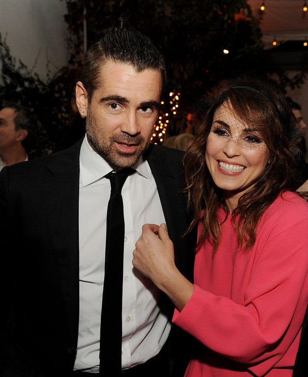 Description of . Actors Colin Farrell (L) and Noomi Rapace pose at the after party for the premiere of FilmDistrict's