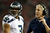 Russell Wilson #3 and head coach Pete Carroll of the Seattle Seahawks react during the second quarter against the Atlanta Falcons during the NFC Divisional Playoff Game at Georgia Dome on January 13, 2013 in Atlanta, Georgia.  (Photo by Streeter Lecka/Getty Images)