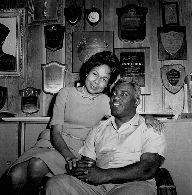 Description of . Jackie Robinson and wife Rachel pose in their Connecticut home in this 1962 file photo. Robinson broke the color barrier and changed baseball forever (AP Photo/file)
