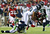 Julio Jones #11 of the Atlanta Falcons is tackled by  K.J. Wright #50 and  Richard Sherman #25 of the Seattle Seahawks in the third quarter of the NFC Divisional Playoff Game at Georgia Dome on January 13, 2013 in Atlanta, Georgia.  (Photo by Mike Ehrmann/Getty Images)