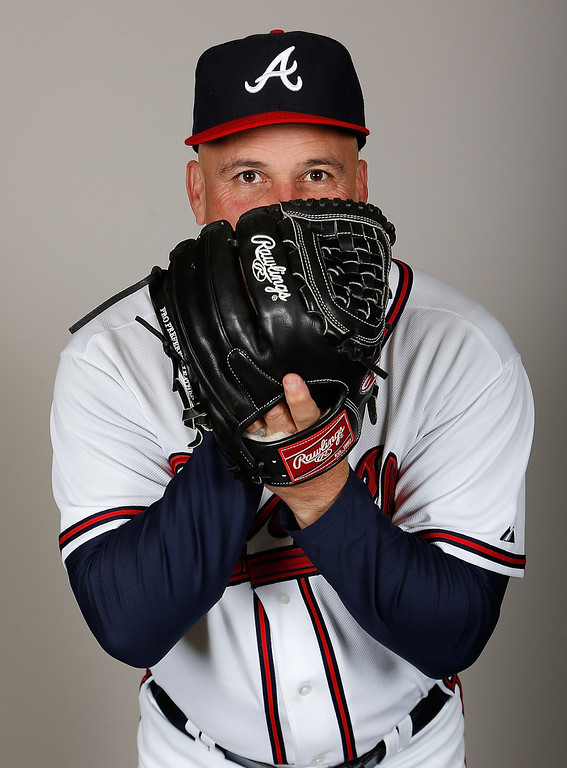 Description of . LAKE BUENA VISTA, FL - FEBRUARY 20:  Manager Fredi Gonzalez #33 of the Atlanta Braves poses for a photo during photo day at Champion Stadium at the ESPN Wide World of Sports Complex at Walt Disney World on February 20, 2013 in Lake Buena Vista, Florida.  (Photo by J. Meric/Getty Images)
