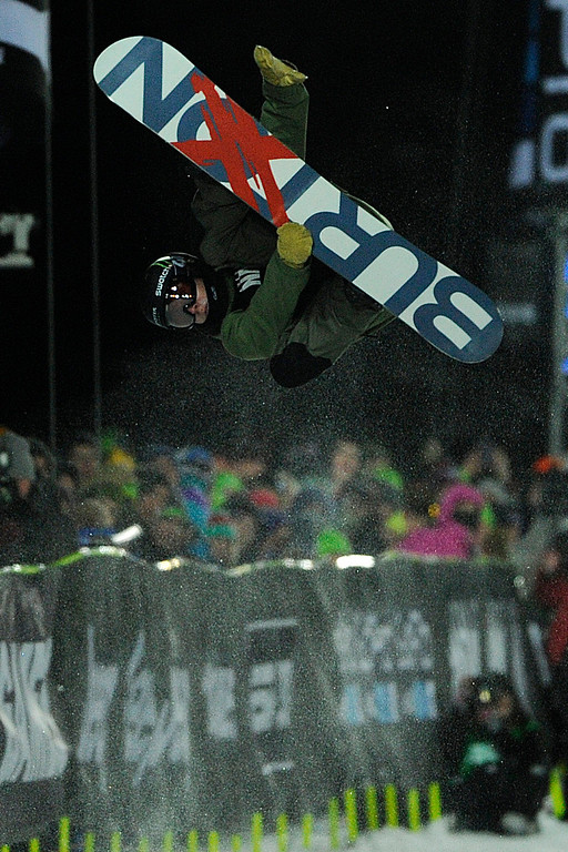 Description of . ASPEN, CO - JANUARY 27: Ayumu Hirano during the men's snowboard superpipe final. X Games Aspen Buttermilk Mountain Aspen January 27, 2013. (Photo By Daniel Petty/The Denver Post)