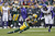 Greg Jennings #85 of the Green Bay Packers catches a pass for a first down against the Minnesota Vikings during the game at Lambeau Field on December 2, 2012 in Green Bay, Wisconsin. The Packers won 23-14. (Photo by Joe Robbins/Getty Images)