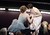 Actress Amy Adams kisses actress Anne Hathaway after Hathaway wins the Best Supporting Actress award for