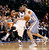 Dallas Mavericks guard O.J. Mayo is fouled by Denver Nuggets center Kosta Koufos during the first half of their NBA basketball game in Dallas, Texas December 28, 2012. REUTERS/Mike Stone