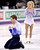 Canada's Kirsten Moore-Towers and Dylan Moscovitch react at the end of their pairs free program at the World Figure Skating Championships Friday, March 15, 2013, in London, Ontario. (AP Photo/The Canadian Press, Paul Chiasson)