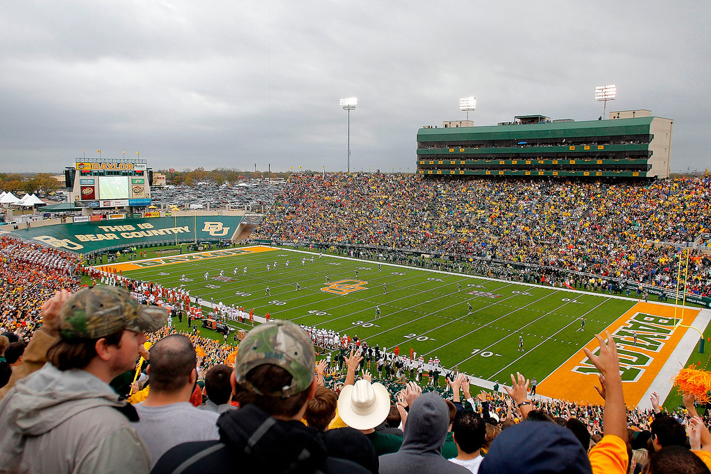 Description of . Floyd Casey Stadium during a game between the Baylor Bears and the Texas Longhorns on December 3, 2011 in Waco, Texas.  (Photo by Sarah Glenn/Getty Images)
