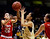 Colorado's Arielle Roberson, center, and Utah's Danielle Rodriguez struggle for a rebound during the first half of their NCAA college basketball game, Tuesday, Jan. 8, 2013, in Boulder, Colo. (AP Photo/Brennan Linsley)