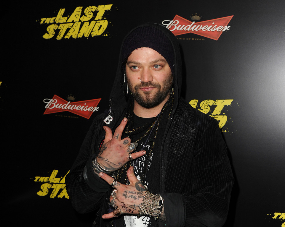 Description of . Actor Bam Margera arrives at the premiere of Lionsgate Films'