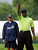 Michael Jordan, right, lines up a putt with the help of his caddie PGA Tour golfer Fred Couples during the Golf Digest U.S. Open Challenge on Bethpage State Park's Black Course Friday, June 12, 2009 in Farmingdale, N.Y. (AP Photo/Jason DeCrow)