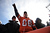 Broncos fans cheer on the team. The Denver Broncos vs Baltimore Ravens AFC Divisional playoff game at Sports Authority Field Saturday January 12, 2013. (Photo by Joe Amon,/The Denver Post)